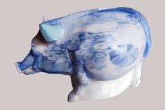 Sparschwein-Monetansicht